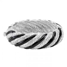 Buy Simple Silvertone Crystal Bangle