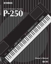 Buy Yamaha P250E1 Operating Guide by download Mauritron #203991