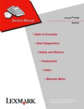 Buy LEXMARK X7500 4036 501 2 Service Manual by download #138005