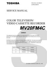 Buy TOSHIBA MV20FM4C SUPPLEMENT Service Schematics by download #160279