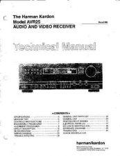 Buy Harman Kardon AVR25 SM Manual by download Mauritron #185590