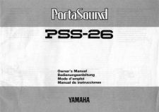 Buy Yamaha PSS26E Operating Guide by download Mauritron #205079