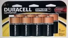 Buy Duracell Coppertop D Batteries 8 Count