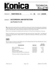 Buy Konica 32 ACCORDIAN JAM DETECTION Service Schematics by download #136107