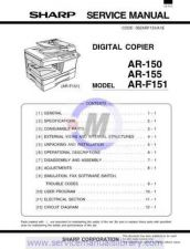 Buy Sharp AR151-156 SM GB Manual by download #179354