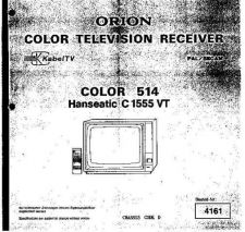 Buy ORION COLOR 514 Service Manual by download Mauritron #193510