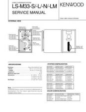 Buy KENWOOD LS-M33-S -L -N -LM Technical Info by download #148278