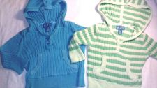 Buy Two Lot Blue Green Hoodie Sweater Children's Place Baby Girls 6/9 months