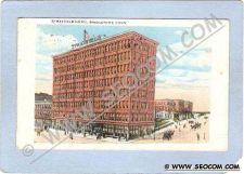 Buy CT Bridgeport Stratfield Hotel Street Scene Intersection w/Horses & Wagons~255