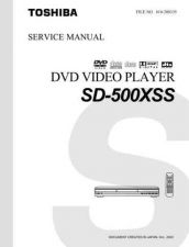 Buy Toshiba SD500XSS Service Manual by download Mauritron #192825