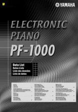 Buy Yamaha PF1000EFGS2 Operating Guide by download Mauritron #204034