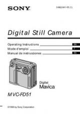 Buy SONY MVC-FD5-7PDF OPERATING GUIDE by download #167109