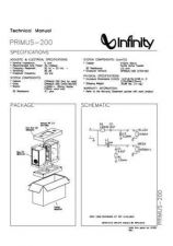 Buy INFINITY PRIMUS 200 TM Service Manual by download #147616