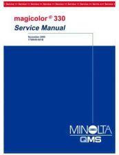 Buy KONICA MINOLTA QMS MAGICOLOR 330 SERVICE MANUAL by download #148380