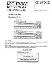 Buy KENWOOD KRC-15RG 179RA RG RYA RYG 25RA RG 279RA RG RYA RYG 281RG Technical Info