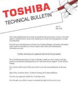 Buy TOSHIBA TECH BULLETIN AH70 by download #131995