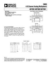 Buy INTEGRATED CIRCUIT DATA AD7501 02 03J Manual by download Mauritron #186324