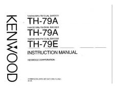 Buy KENWOOD TH-79AD Instruction manual Service Data by download #132808