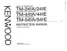 Buy KENWOOD TM-241 Operating Manual Service Data by download #132817