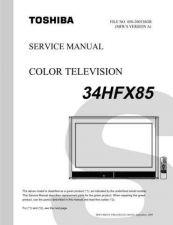 Buy TOSHIBA 34HFX85 SVM Service Schematics by download #159921