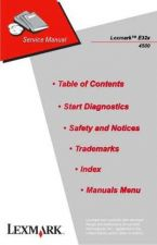 Buy LEXMARK E32X 4500 001 CDC-1027 Service Manual by download #137940