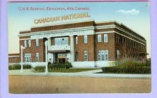 Buy CAN Edmonton Alberta CNR Station View Small Brick Station w/Canadian Natio~119