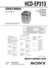 Buy SONY HCD-EP313 Service Manual by download #166940