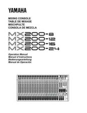 Buy Yamaha MX200E Operating Guide by download Mauritron #204928