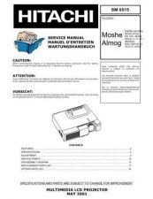 Buy HITACHI PJLC2001 SM 0515E Manual by download Mauritron #186219