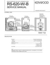 Buy KENWOOD RS-620W 620B Service Data by download #132793