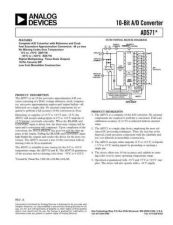 Buy INTEGRATED CIRCUIT DATA AD571J Manual by download Mauritron #186272