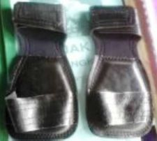 Buy Boxing Gloves Black Color Made of genuine leather Handmade every step Free size.