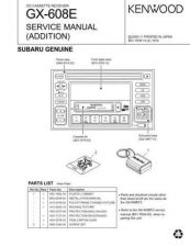 Buy KENWOOD GX-608ES(subaru) Service Data by download #132720