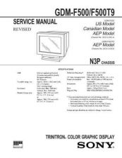 Buy SONY GDM-F500 Service Manual by download #166887