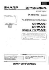 Buy SHARP 66FW53H-ADJ Service Manual by download #157888
