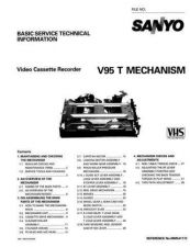 Buy Sanyo Service Manual For MECHANISM V-95 Manual by download #175954
