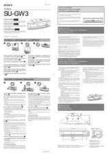 Buy SONY SU-GW3 OPERATING GUIDE by download #167209