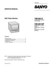 Buy Sanyo Service Manual For VM-6615P by download #176237
