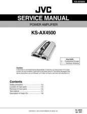 Buy JVC KS-AX4500 TECHNICAL DATA by download #131266