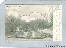 Buy CT Meriden Postcard Hubbard Park w/Gold Sparkles Undivided Back ct_box3~1256