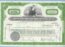 Buy DE na Stock Certificate Company: United Merchants And Manufacturers, Inc ~88