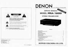 Buy Denon PRA1200 Amplifier Service Manual. by download #183561