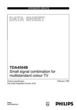 Buy MODEL TDA4504B Service Information by download #124719