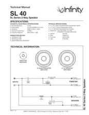 Buy INFINITY SL40 TS Service Manual by download #151532