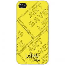 Buy Lost Dog Iphone 4 Slim Protective Hard Case (yellow With Ink Stamp Effect)