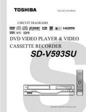 Buy TOSHIBA SDV593SU CD Service Schematics by download #160471