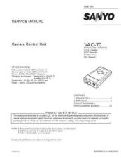 Buy Sanyo Service Manual For VA-EXH Manual by download #176067