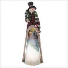Buy Light-up Scenic Snowman Statue