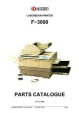 Buy KYOCERA F-3000 PARTS MANUAL by download #148409