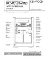 Buy KENWOOD RXD-M31L Service Schematics by download #131647
